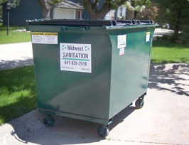 commercial dumpster 2 yard midwest sanitation and recycling
