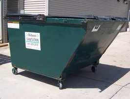 commercial dumpster 3 yard midwest sanitation and recycling